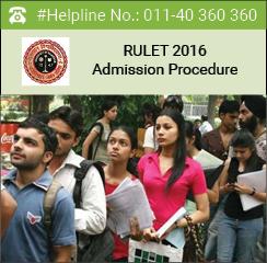 RULET 2016 Admission Procedure