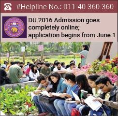 DU 2016 Admission goes completely online; application begins from June 1