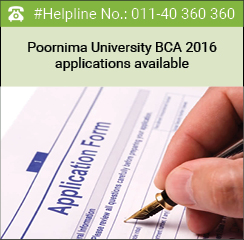 Poornima University BCA 2016 applications available