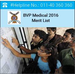 BVP Medical 2016 Merit List
