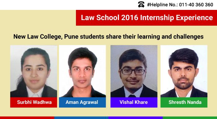 Law school internship 2016: New Law College Pune students share internship experience