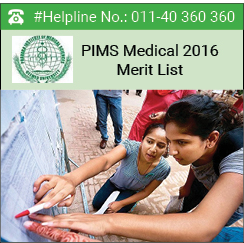PIMS Medical 2016 Merit List