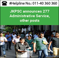JKPSC announces 277 Administrative Service, other posts