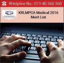 KRLMPCA Medical 2016 Merit List