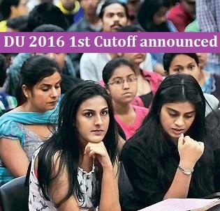 DU 2016 admission: 1st Cutoff announced; B.Com (H) cutoff at Ramjas reaches peak of 99.25 per cent