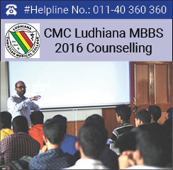 CMC Ludhiana MBBS 2016 Counselling