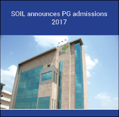 SOIL announces PG admissions 2017