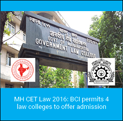 MH CET Law 2016: BCI permits 4 law colleges to offer admission