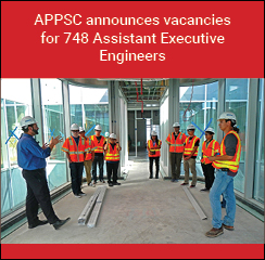 APPSC announces vacancies for 748 Assistant Executive Engineers