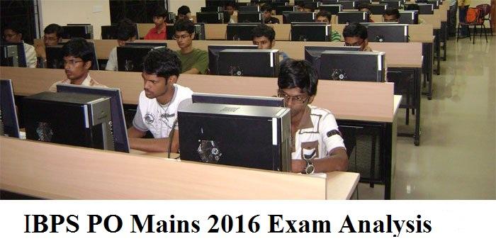 IBPS PO 2016 exam analysis