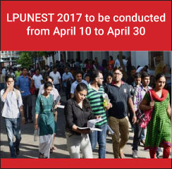 LPUNEST 2017 to be conducted from April 10 to April 30