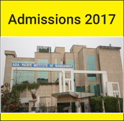 Asia Pacific Institute of Management announces PGDM Admissions 2017