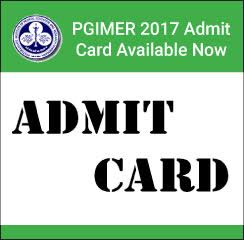 PGIMER 2017 Admit Card Available Now