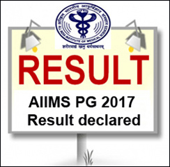 AIIMS PG 2017 Result declared