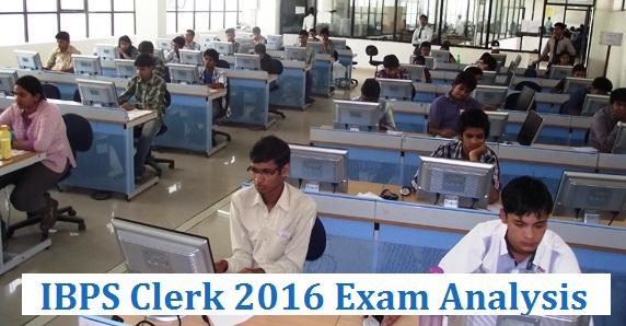 IBPS Clerk 2016 Exam Analysis