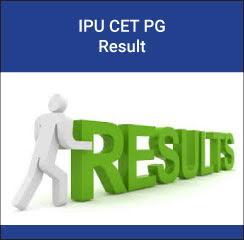 IPU CET PG Result 2017