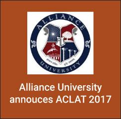 Alliance University announces ACLAT 2017