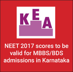 NEET 2017 scores valid for MBBS/ BDS admissions in Karnataka