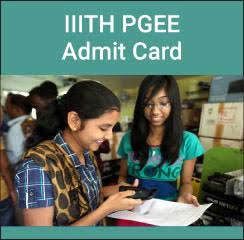 IIITH PGEE Admit Card 2017