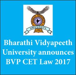 BVP CET Law 2017: Application begin on Jan 6; Exam on June 17 & 18