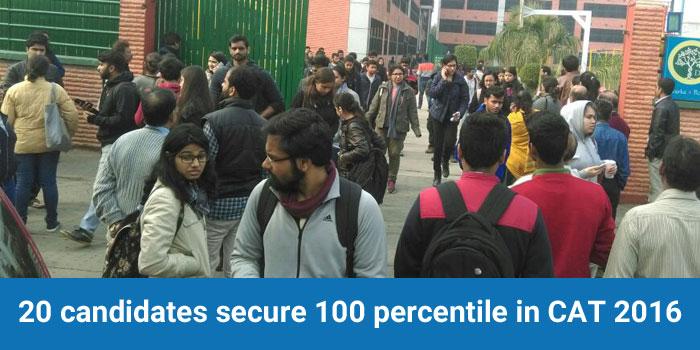 CAT 2016 Result - 20 candidates secure 100 percentile, says Convenor Prof. Bandi