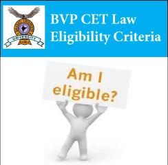 BVP CET Law Eligibility Criteria 2017