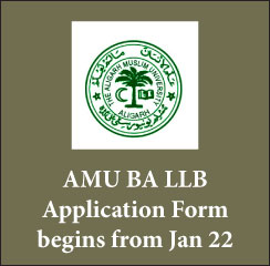 AMU BA LLB 2017: Application form available from January 22