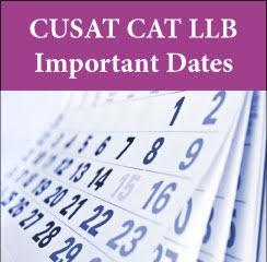 CUSAT CAT LLB Important Dates 2017