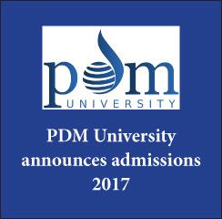 PDM University announces admissions 2017
