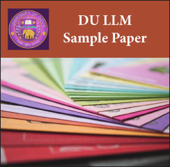 DU LLM Sample Papers 2017
