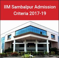 IIM Sambalpur Admission Criteria 2017-19: Cutoff reduces for reserved categories