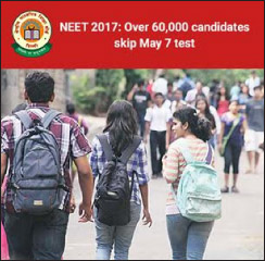 NEET 2017: Over 57,000 candidates skip May 7 test