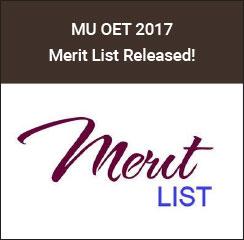 MU OET Merit List 2017 Announced