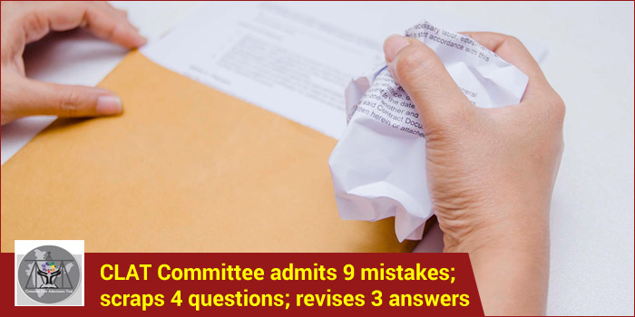CLAT 2017: Committee admits 9 mistakes; scraps 4 questions; revises 3 answers