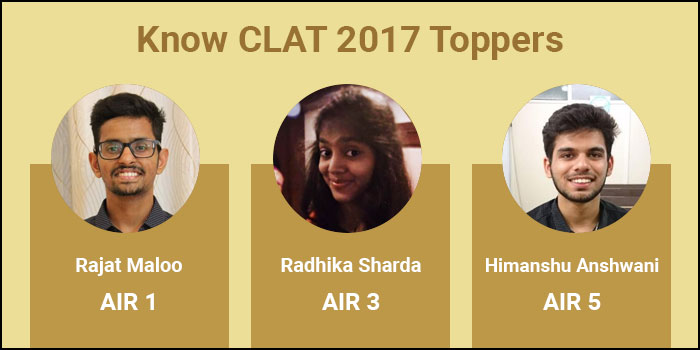 CLAT 2017: Know the toppers