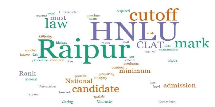 HNLU Raipur Cutoff 2018