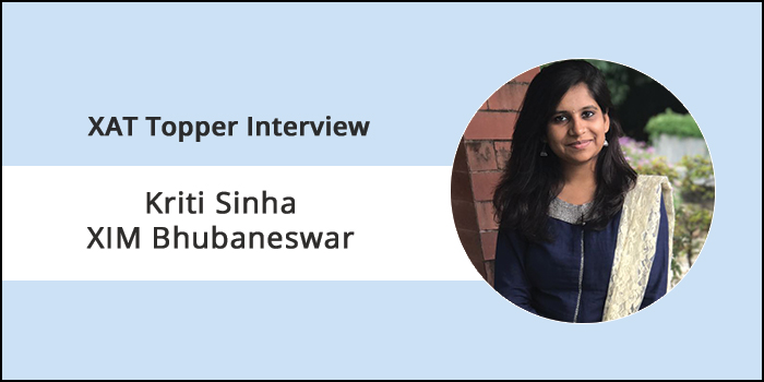 XAT 2018 Topper Interview: Avoid questions you are unsure of to ensure accuracy, says Kriti Sinha
