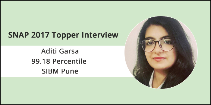 SNAP 2017 Topper Interview: Ensure that no topic goes unrevised for more than a week, says Aditi Garsa of SIBM Pune