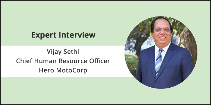 """""""The company believes in helping its employees realise their full potential"""" says,Vijay Sethi, CIO, Chief Human Resource Officer, and Head-CSR, Hero MotoCorp"""