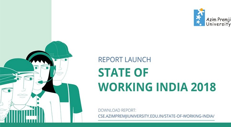 Wages up by 3% across sectors, 82% male & 92% female workers earn below Rs.10,000 per month: State of Working India Report 2018
