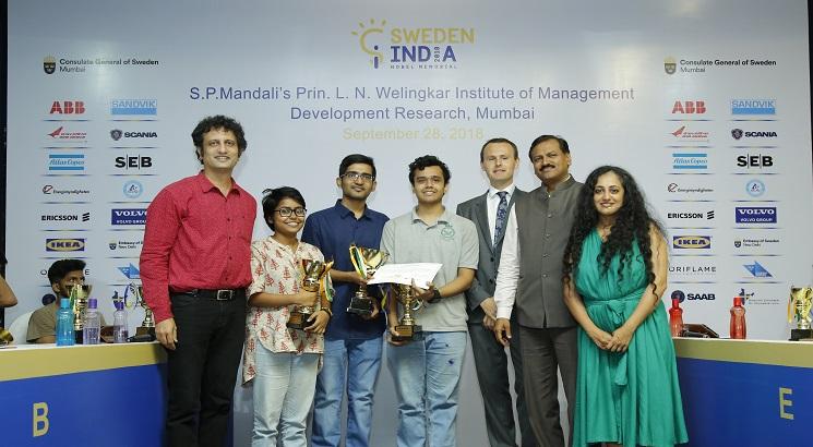 Team IIT Bombay wins Mumbai round of The Sweden India Nobel Memorial Quiz 2018