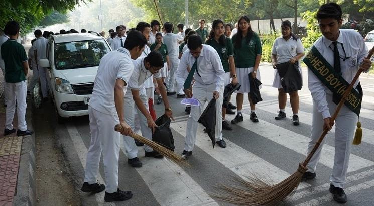 DPS RK Puram celebrates Gandhi Jayanti by organising Cleanliness Drive