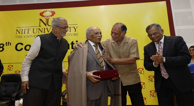 NIIT University awards first honorary doctorate to  F. C. Kohli, father of Indian software industry