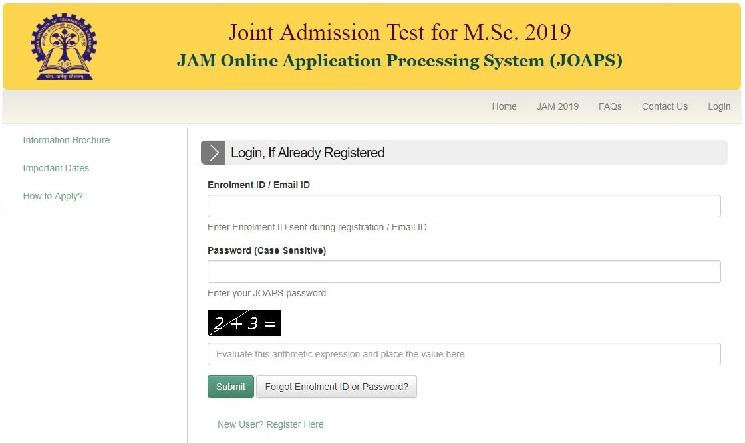 IIT JAM 2019 application date extended till October 12