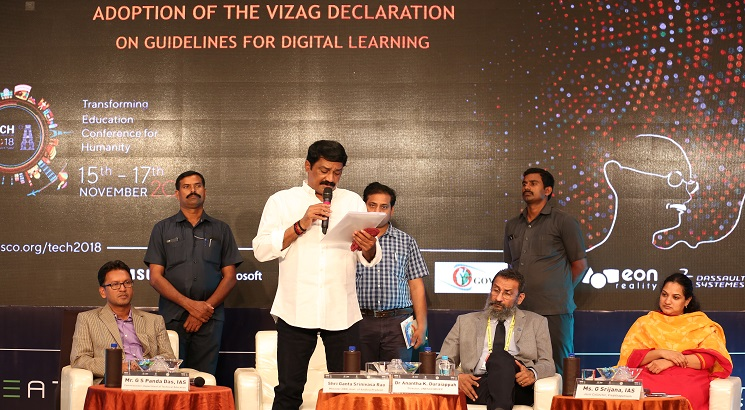 UNESCO MGIEP's TECH 2018 concludes with the adoption of 'Vizag Declaration'