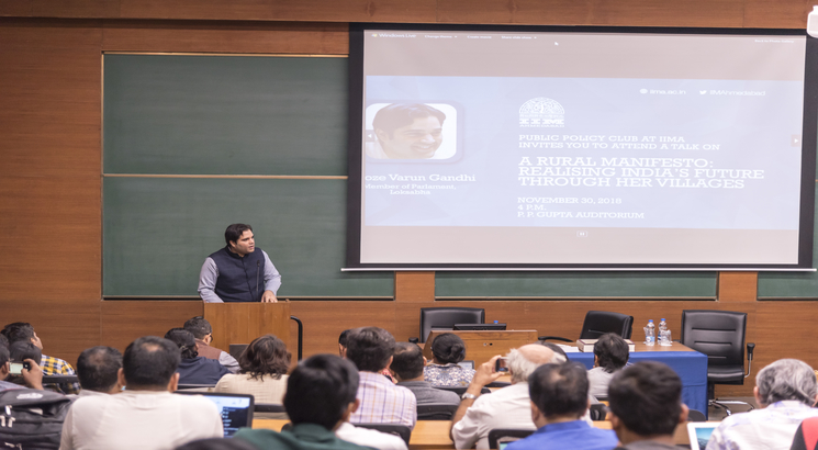 IIM Ahmedabad Public Policy Club hosts Varun Gandhi