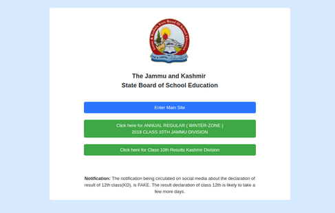 JKBOSE 10th Result 2018 for Jammu winter zone released; check here