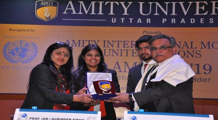 International diplomats at  'Amity International Model United Nations'  calls for world peace