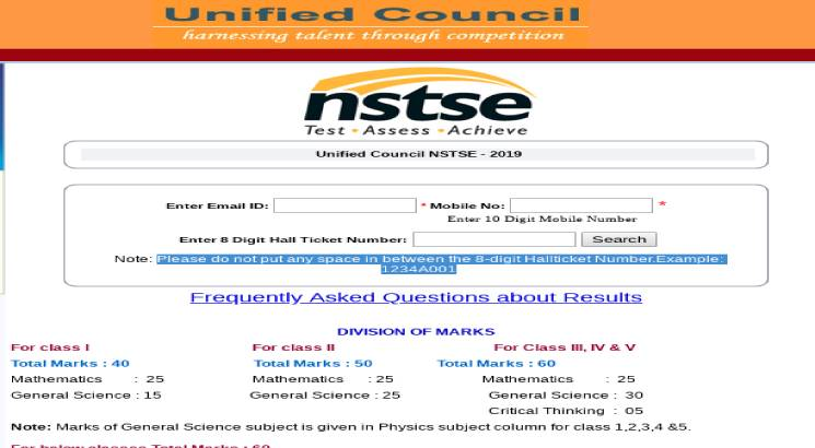 NSTSE result 2019 for classes I to XII released; check here