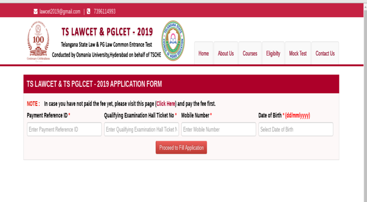 TS LAWCET and PGLCET 2019: Application and exam dates out